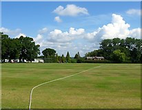 TQ2817 : Playing Field, Hurstpierpoint College by Simon Carey