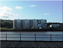 NZ2462 : Modern Apartment Blocks on the River Tyne by Anthony Parkes