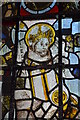 SO5634 : Detail of Stained glass window, St Cuthbert's church, Holme Lacy by Julian P Guffogg