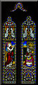 SO5634 : Stained glass window, St Cuthbert's church, Holme Lacy by Julian P Guffogg
