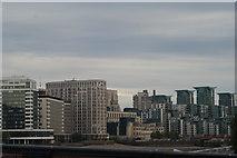 TQ3078 : View of 89 Albert Embankment, the MI6 building and St. George's Wharf from Lambeth Bridge by Robert Lamb