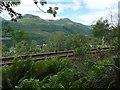 NN2903 : West Highland Line above Arrochar by Lairich Rig