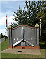 TL8527 : Memorial at the entrance to Earls Colne Business Park by Adrian Cable