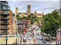 SK9771 : Broadgate and Lincoln Cathedral by David Dixon
