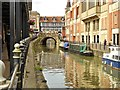 SK9771 : River Witham, Lincoln Waterside by David Dixon