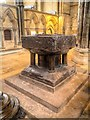 SK9771 : Lincoln Cathedral Font by David Dixon