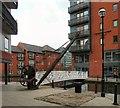 SJ8498 : Ellis & Norton crane by the Ashton Canal by Gerald England