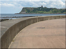 TA0390 : Sea Wall, Scarborough, Yorkshire by Christine Matthews