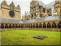 SK9771 : Lincoln Cathedral Cloisters by David Dixon