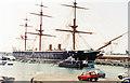 SU6200 : HMS 'Warrior' in Portsmouth Historic Dockyard, 1992 by Ben Brooksbank