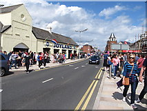 J3731 : Crowded Main Street at Newcastle by Eric Jones