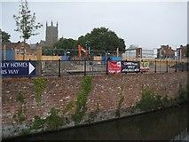 SO8554 : Site awaiting redevelopment at Sidbury by Philip Halling