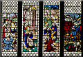 ST5545 : Stained glass window, s.VII, Wells Cathedral by Julian P Guffogg