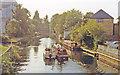TL3514 : Ware: westward on River Lea Navigation, 1990 by Ben Brooksbank