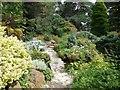 SZ0589 : Stepping stones, Water & Rock gardens by Paul Gillett
