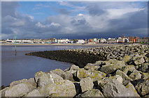 SD4364 : Fish-tail groyne, Morecambe by Ian Taylor