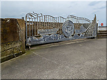 NZ8911 : Stormgate Memorial to Whitby Seamen on the West Pier, Whitby by Christine Matthews