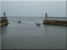 NZ8911 : The Harbour Entrance, Whitby by Christine Matthews