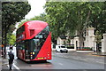 TQ2580 : New Routemaster outside Kensington Palace Gardens by Oast House Archive