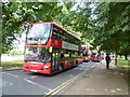 TQ1781 : Buses at Haven Green by Marathon