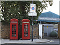 TQ2479 : Two listed phone boxes by Stephen Craven