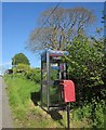 SX3271 : Telephone and post boxes, Golberdon by Derek Harper