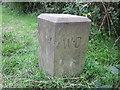 SJ4264 : War Department Boundary Stone at Huntington by Jeff Buck