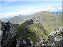 """NN2505 : The north top of """"The Cobbler"""" from the south top by Peter S"""