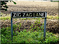 TM2998 : Zig Zag Lane sign by Adrian Cable