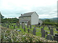 SN4843 : Graveyard and converted chapel, Brynteg by John Lord