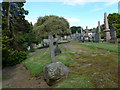 NN8521 : A midday visit to Gallowhill Cemetery, Crieff (x) by Basher Eyre