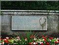 SO8983 : Plaque honouring Frank Edward Foley, outside Mary Stevens Park, Stourbridge by P L Chadwick