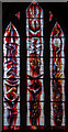 SO7137 : Stained glass window, St Michael & All Angels church, Ledbury by Julian P Guffogg