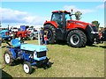SP0902 : The little and large of the tractor world, Fairford Steam Rally, Quarry Farm, Poulton, Gloucestershire by Brian Robert Marshall
