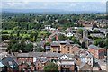 SO5039 : View west from Hereford Cathedral by Philip Halling