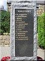 NU1908 : World War 2 casualties on Shilbottle War Memorial by Graham Robson
