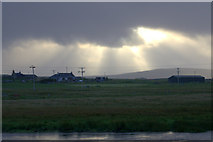 HP6312 : A brief break in the clouds at Haroldswick pool by Mike Pennington
