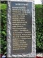 NU1908 : Shilbottle War Memorial World War One plaque by Graham Robson