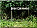 TM3189 : Denton Road sign by Adrian Cable