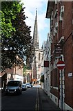 SO5139 : View to St Peter's church by Philip Halling