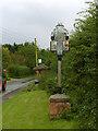 SK7476 : Village sign, Headon by Alan Murray-Rust