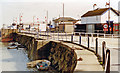 TR2335 : Folkestone Harbour Pier and Station, 1997 by Ben Brooksbank