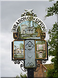 SK7476 : Village sign, Upton by Alan Murray-Rust