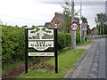 SK7373 : East Markham village sign by Alan Murray-Rust