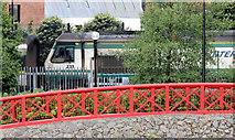 "J3473 : The ""Enterprise"" departing Central station, Belfast (August 2014) by Albert Bridge"