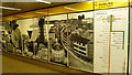 NZ2463 : Mural at Central Station on the Tyne & Wear Metro by Jeremy Bolwell