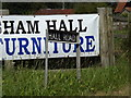 TM3289 : Hall Road sign by Adrian Cable