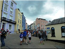 SN1300 : View from approach to Tenby Harbour by Clint Mann