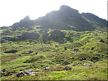 """NN2605 : North peak of """"The Cobbler"""" from below by Peter S"""