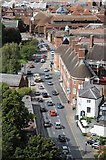 SO8454 : Traffic on Deansway, Worcester by Philip Halling